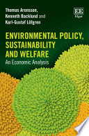 Environmental Policy  Sustainability and Welfare