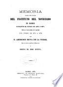 Memoria acerca del estado del Instituto del Noviciado de Madrid durante el curso de...