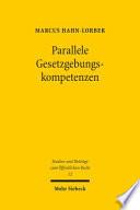 Parallele Gesetzgebungskompetenzen