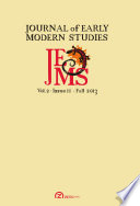 Journal of Early Modern Studies - Volume 2, Issue 2 (Fall D:2013-01-01)