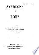 Sardegna e Roma  Traduzione dall Inglese  of an article in the    Quarterly Review     vol  97  for June 1855    Estratto dall Opinione Agosto 1855