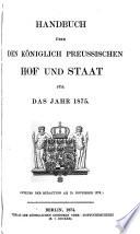 Handbuch über den königlich preussischen Hof und Staat