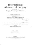 International Abstracts of Surgery