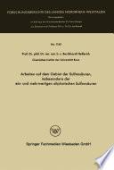 Arbeiten auf dem Gebiet der Sulfonsäuren, insbesondere der ein- und mehrwertigen aliphatischen Sulfonsäuren