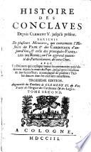 Histoire des Conclaves, depuis Clément V jusqu'à présent