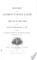 Annual Report Of The Comptroller Of The City Of New York For The Fiscal Year Ended