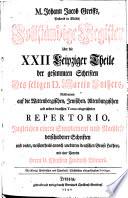 M  Johann Jacob Greiffs  Pastoris in M  lbis  Vollst  ndige Register   ber die XXII Leipziger Theile der gesammten Schriften Des seligen D  Martin Luthers