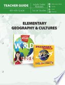 Elementary Geography   Cultures Teacher Guide Book PDF