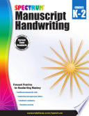 Spectrum Manuscript Handwriting  Grades K   2