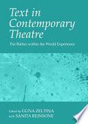 Text in Contemporary Theatre