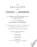 The Decisions Of The Court Of Session : ...