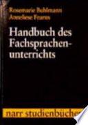 Handbuch des Fachsprachenunterrichts