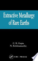 Extractive Metallurgy Of Rare Earths book