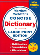 Merriam Webster s Concise Dictionary