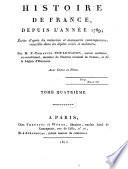 Histoire De France Depuis La Revolution De 1789
