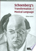 Schoenberg s Transformation of Musical Language