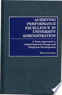 Achieving Performance Excellence in University Administration