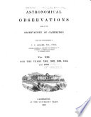 Astronomical Observations Made At The Observatory Of Cambridge book