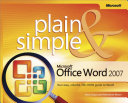 Microsoft   Office Word 2007 Plain   Simple