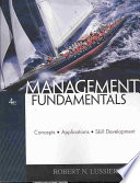 Management Fundamentals  Concepts  Applications  Skill Development