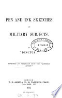 Pen And Ink Sketches Of Military Subjects book