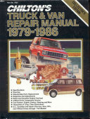 Chilton truck   van repair manual  1979 1986 edition
