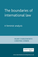 The Boundaries of International Law
