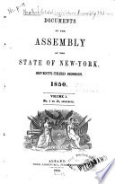 Documents Of The Assembly Of The State Of New York : ...