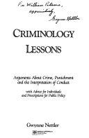 Criminology lessons