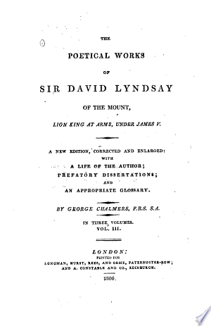 The Poetical Works Of Sir David Lyndsay Of The Mount: Lion King At Arms, Under James V. img-1