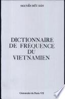 Dictionnaire de fréquence du vietnamien