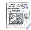 Vier Cents Almanach Voor T Jaer Ons Heere J C 1825