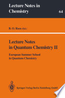 Lecture Notes in Quantum Chemistry II