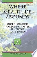 Where Gratitude Abounds