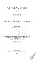 General Index of the Laws of the State of New York Book PDF