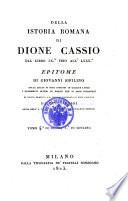 Istorie romane di Dione Cassio Coccejano tradotte da Giovanni Viviani