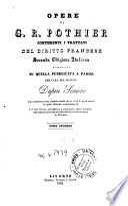 Opere di G  R  Pothier contenenti i trattati del diritto francese
