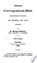 Medicinisches Correspondenz-Blatt bayerischer Aerzte