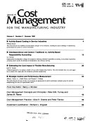 Journal of Cost Management for the Manufacturing Industry