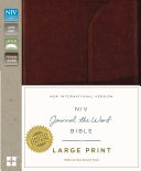 NIV  Journal the Word Bible  Large Print  Genuine Leather  Brown