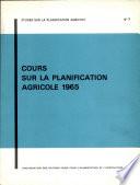Cours sur la planification agricole 1965