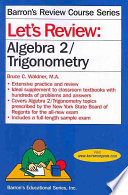 Let s Review Algebra 2 Trigonometry