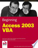Beginning Access 2003 VBA