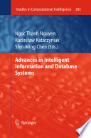 Advances In Intelligent Information And Database Systems : we- established subfields of modern...