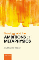 download ebook ontology and the ambitions of metaphysics pdf epub