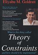 What is this thing called theory of constraints and how should it be implemented    Eliyahu M  Goldratt
