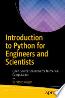 Introduction To Python For Engineers And Scientists