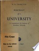 Portrait Of A University 1851 1951