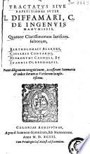 Tractatus Sive Repetitiones Super L Diffamari C De Ingenius Manumissis