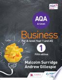 AQA Business for A Level 1  Surridge   Gillespie